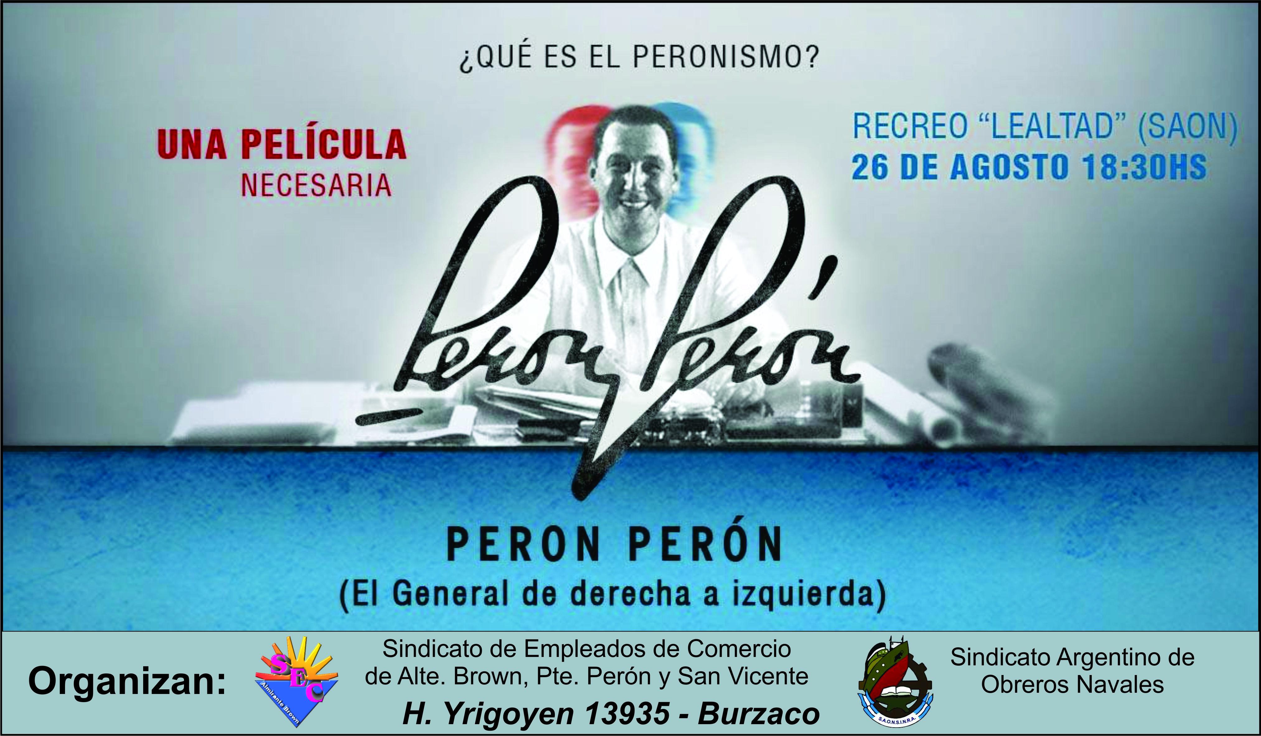 Pelicula Peron